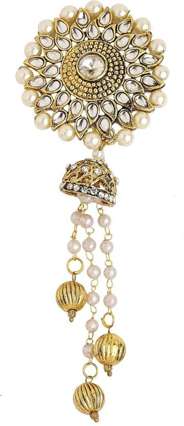 a240e80ea Sanjog Traditional Bahubali Inspired Wedding Hair Brooch Juda Hair  Decoration For Women Girls For Wedding Hair Pin (Gold)