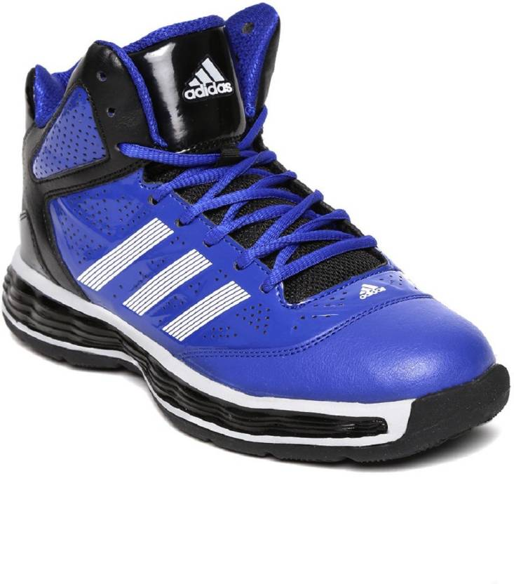 9a18c8e1b1d8 ADIDAS Men s Tyrant Blue Leather Basketball Shoes 7 UK Basketball Shoes For  Men