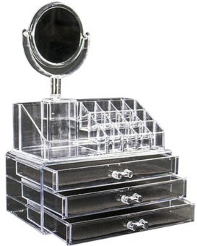 ZEVORA Cosmetic Organizer Makeup Storage Box Lipstick Holder
