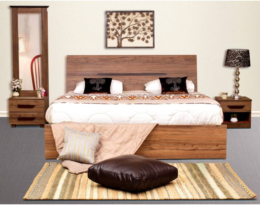 big sale b5dab ec99f Peachtree Engineered Wood Bed + Side Table + Dressing Table ...