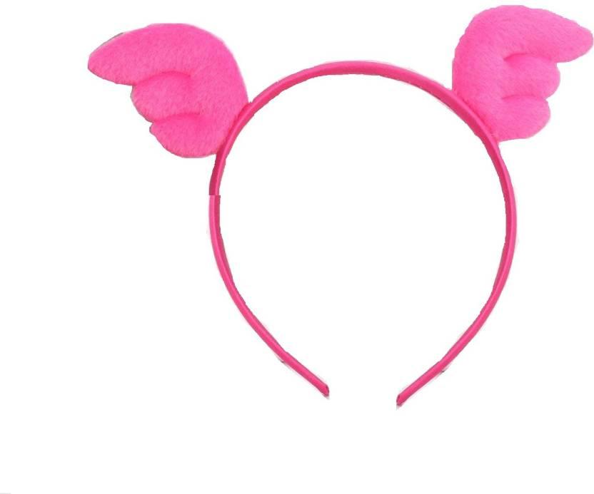 Ziory Pink New Angel Wings Crown Hair bands Head Wear Cute Headband  Children Hair Accessories Hair 43df347a039