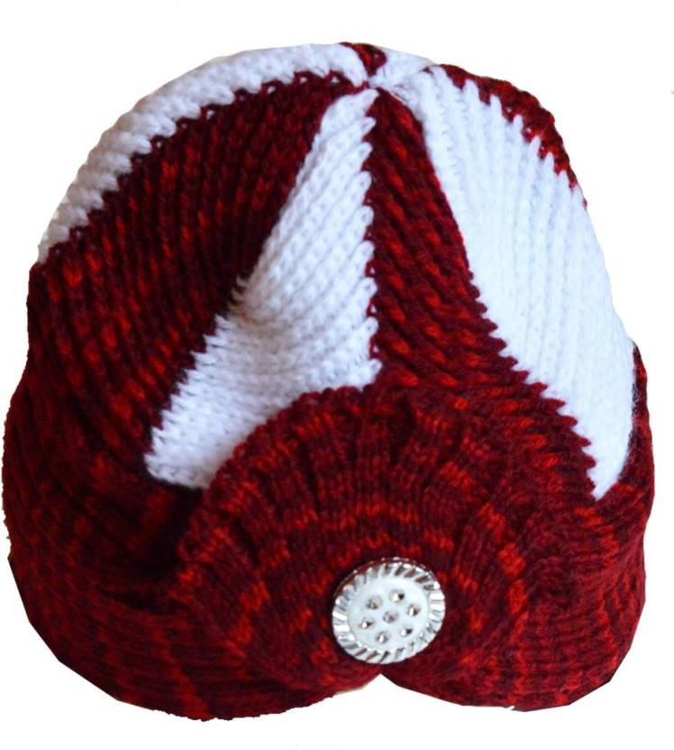 089e00bf528 Faynci Self Design Faynci Maharaja Red White Beanie Hat for Boys and Girls  Cap - Buy Faynci Self Design Faynci Maharaja Red White Beanie Hat for Boys  and ...