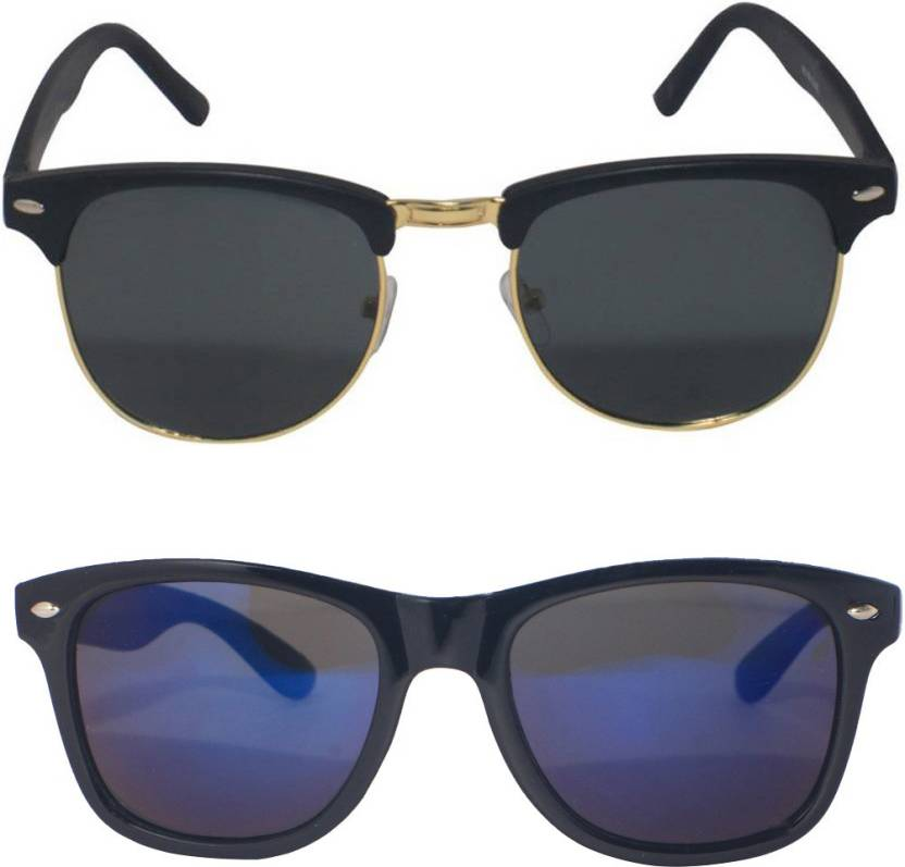 a628c9578ae Buy Eagle Clubmaster Sunglasses Blue For Men   Women Online   Best ...