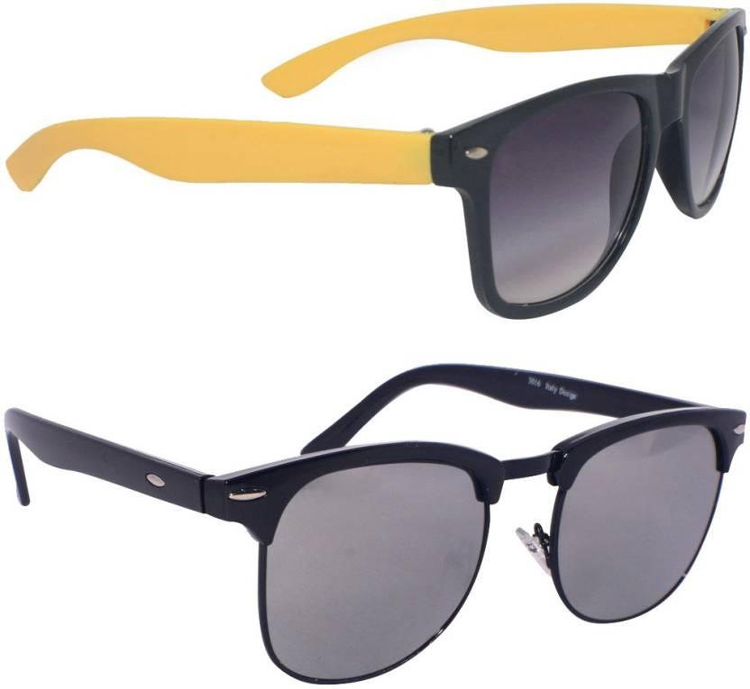 51d3f3694e0b Buy Eagle Clubmaster Sunglasses Black For Men   Women Online   Best ...