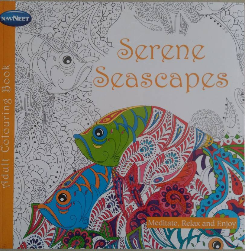 Adult Colouring Book Serene Seascapes