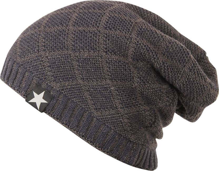 b63ddc86a21c8 FabSeasons Woven Woolen Winter Beanie Cap with Faux Fur Lining on the  inside Cap - Buy FabSeasons Woven Woolen Winter Beanie Cap with Faux Fur  Lining on the ...