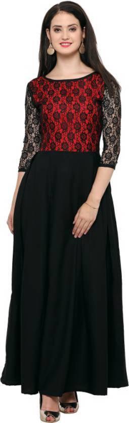 0cc43b350772 Party Wear Dresses Women s Maxi Black Dress - Buy Party Wear Dresses ...
