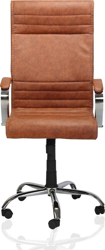 Green Soul Verona High Back Office Chair Tan Leatherette Office