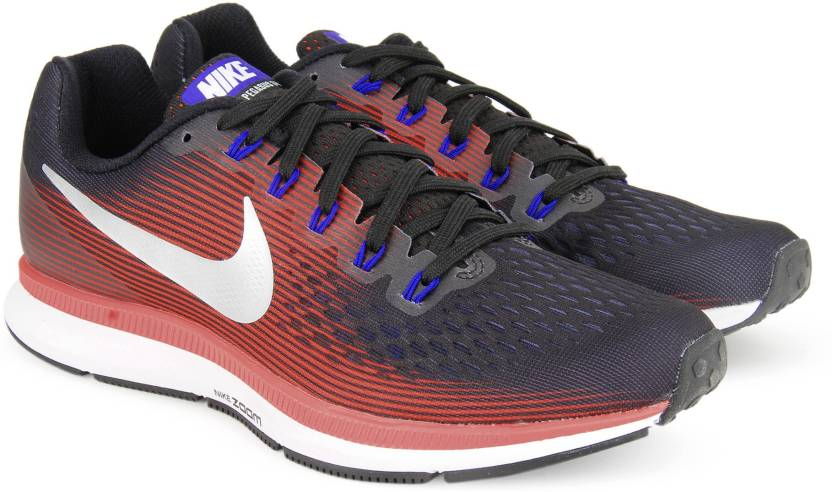 1326d4e2ad2e9 Nike AIR ZOOM PEGASUS 34 Running Shoes For Men - Buy BLACK METALLIC ...