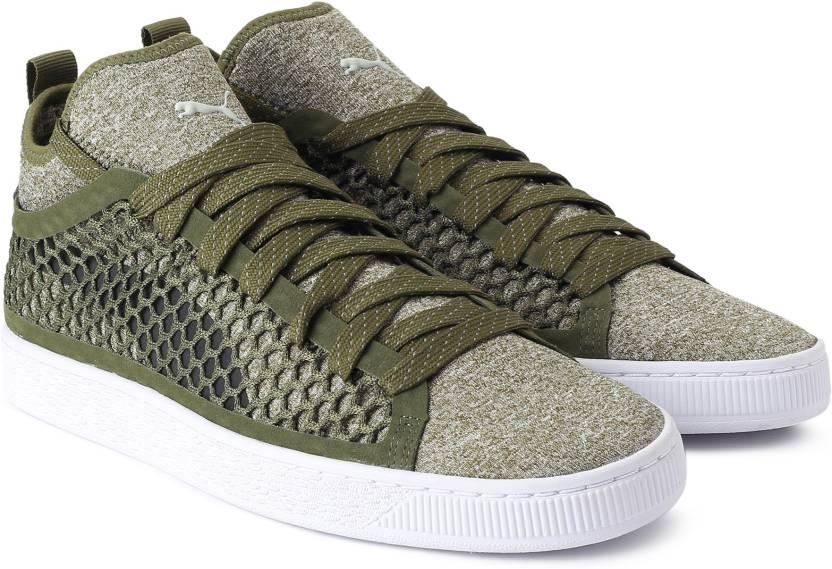 36c1c53754c776 Puma Basket Classic NETFIT Sneakers For Men - Buy Olive Night-Puma ...