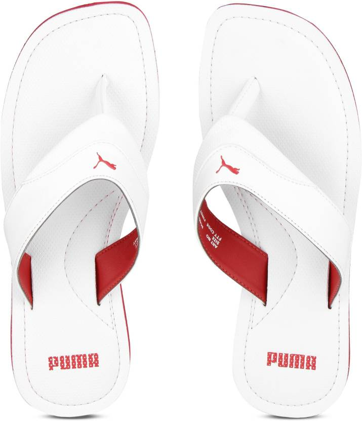 Puma Caper IDP Slippers - Buy Puma White-High Risk Red Color Puma Caper IDP Slippers  Online at Best Price - Shop Online for Footwears in India  2c67053d8