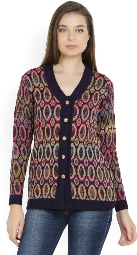 Monte Carlo Women\u0027s Button Printed Cardigan Price in India , Buy Monte  Carlo Women\u0027s Button Printed Cardigan online at Flipkart.com