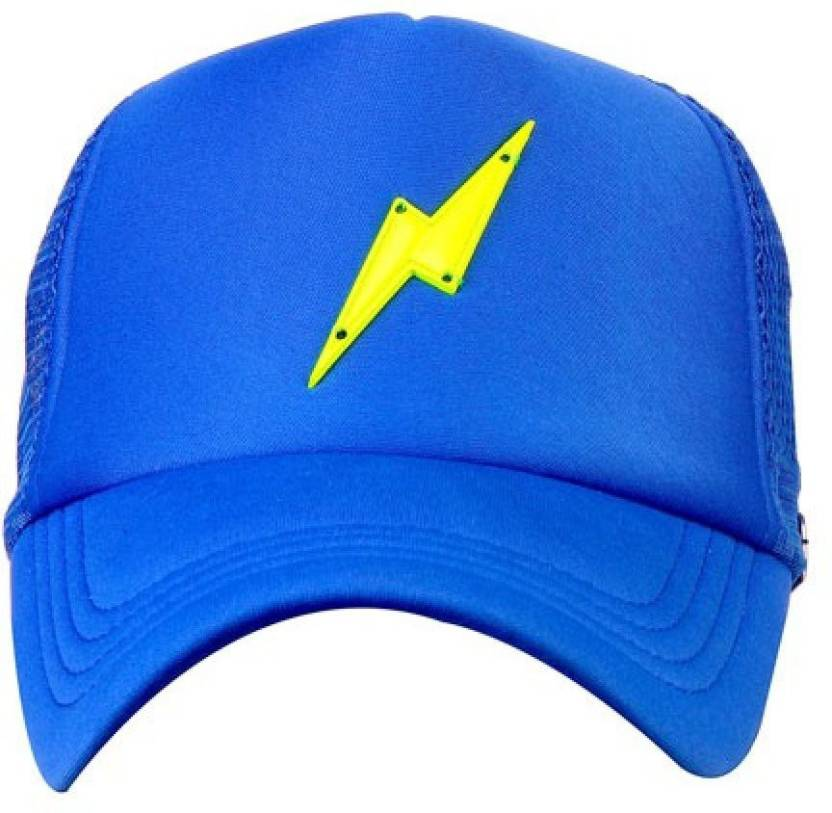 f63f49adfc0 Spike Me NEON GREEN BOLT ROYAL BLUE Half Mesh Trucker Cap with Adjustable  Snap Cap - Buy Spike Me NEON GREEN BOLT ROYAL BLUE Half Mesh Trucker Cap  with ...