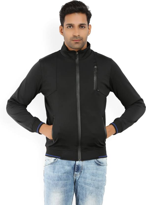 8b717e63d904 Spykar Full Sleeve Solid Men Jacket - Buy Black Spykar Full Sleeve ...