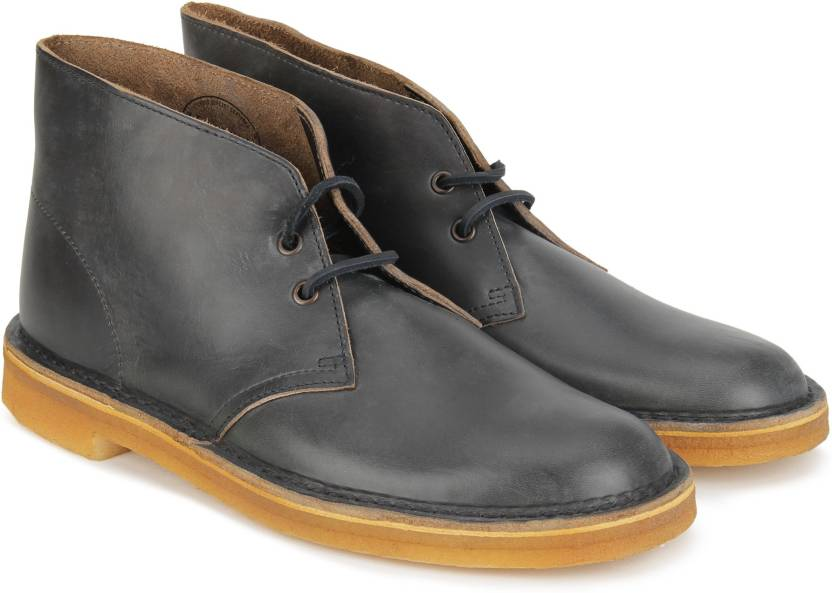 ac7e7323b82 Clarks Desert Boot Petrol Blue Lea Boots For Men