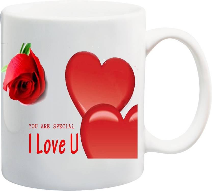 428ff83d38 ME&YOU Gift for Couple Husband Wife Girlfriend Bofriend On Valentine's Day  Anniversary; You R Special I Love U (IZ17JPMU-774) Printed Ceramic Mug (325  ml)