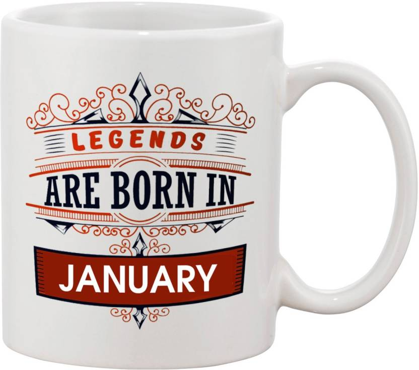 Thirsty Guys Legends Are Born In January Happy Birthday Coffee For Brother Boyfriend Lover Husband Best Friend Gifts Ceramic Mug 325 Ml