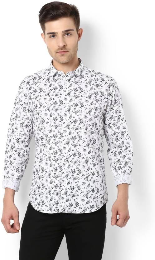 c27f0b02 Van Heusen Men Printed Casual White Shirt - Buy Van Heusen Men ...