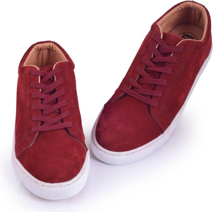 2802fde4f Abelardo De Moda Abelardo De Moda Leather Sneakers Casuals For Men (Maroon)