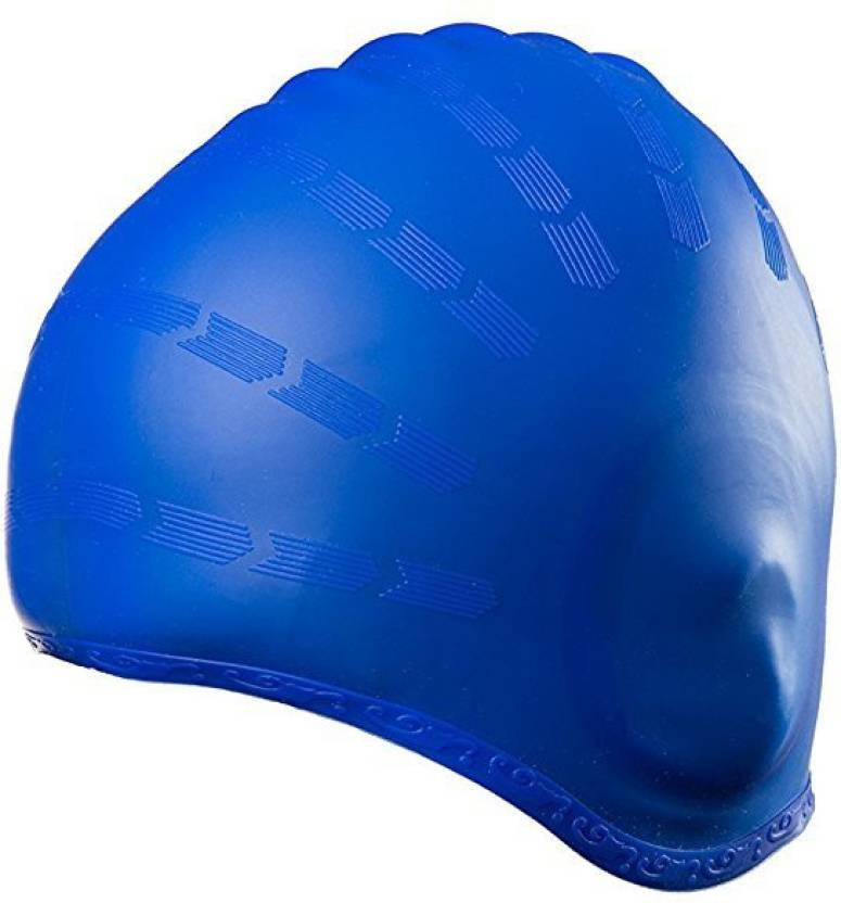 563b283f59d886 Xerobic Swim Cap     Designed Specifically for Better Ear Protection  Against Pool Water and Keep Your Hair Clean and Dry Swimming Cap (Blue
