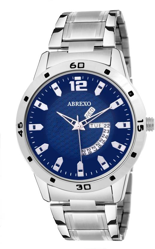 Abrexo Abx01155-Neavyblue Gents Exclusive Free Style Modest Design Day & Date Series Watch - For Men