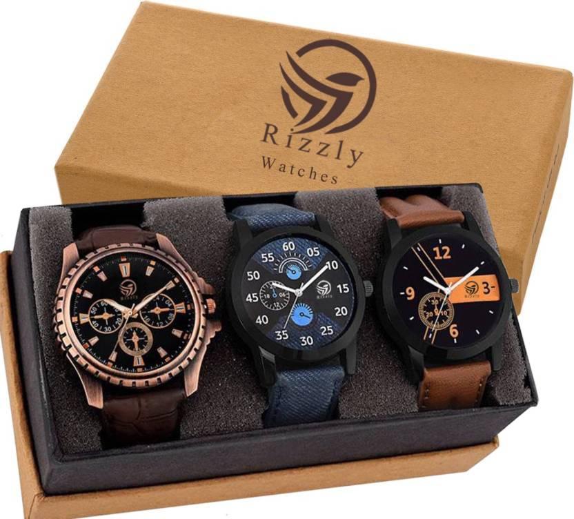 Rizzly Combo of 3 Fashionable Watch - For Men