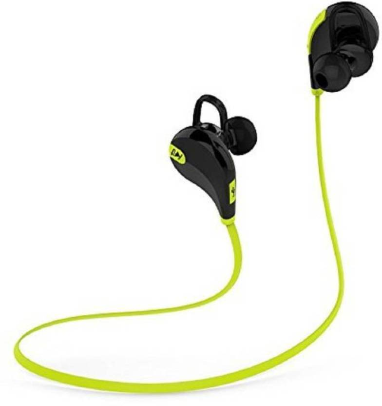 Technuv Jogger Wireless bluetooth Headphone Bluetooth Headset with Mic Green, In the Ear