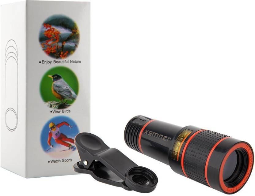 Vibex ™ hd 12x zoom telescope lens clip on cell phone lens mobile