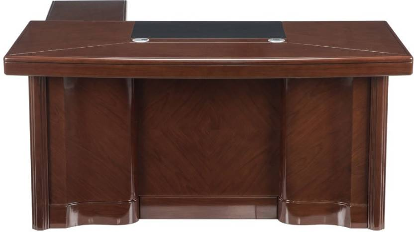 Durian MERIDIAN/B Engineered Wood Office Table Free Standing, Finish Color   WALNUT
