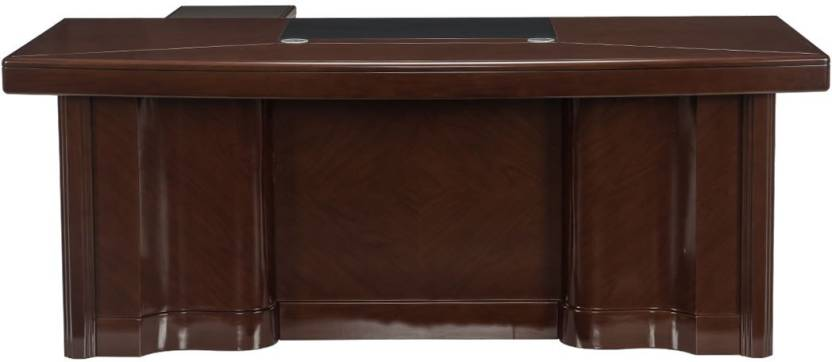 Durian MERIDIAN/A Engineered Wood Office Table Free Standing, Finish Color   WALNUT