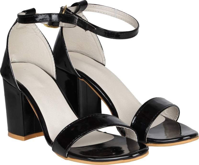 9c2c10baadc8 MISTO Women BLACK Heels - Buy BLACK Color MISTO Women BLACK Heels Online at  Best Price - Shop Online for Footwears in India