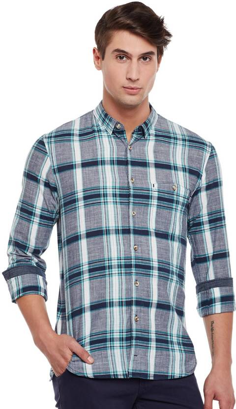 great deals new design hot sale online Tom Tailor Men Checkered Casual Multicolor Shirt - Buy Tom ...
