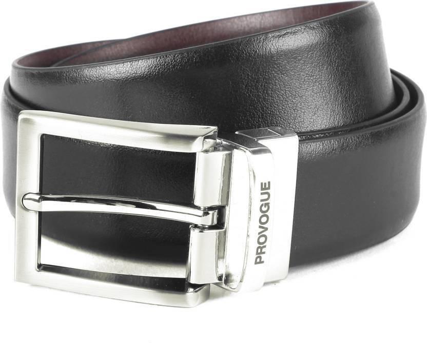2e5c9220002 Provogue Men Black, Brown Genuine Leather Belt Black/Brown - Price in India  | Flipkart.com