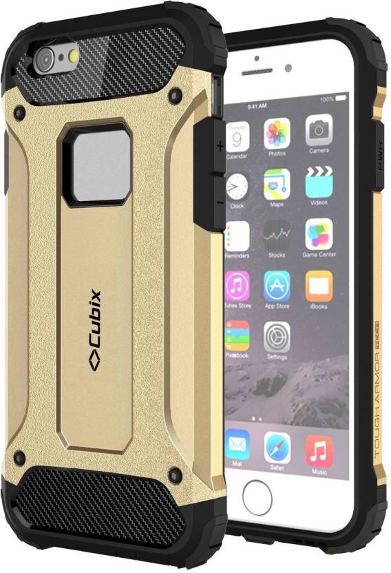 Cubix Back Cover for Apple iPhone 6s Plus Gold