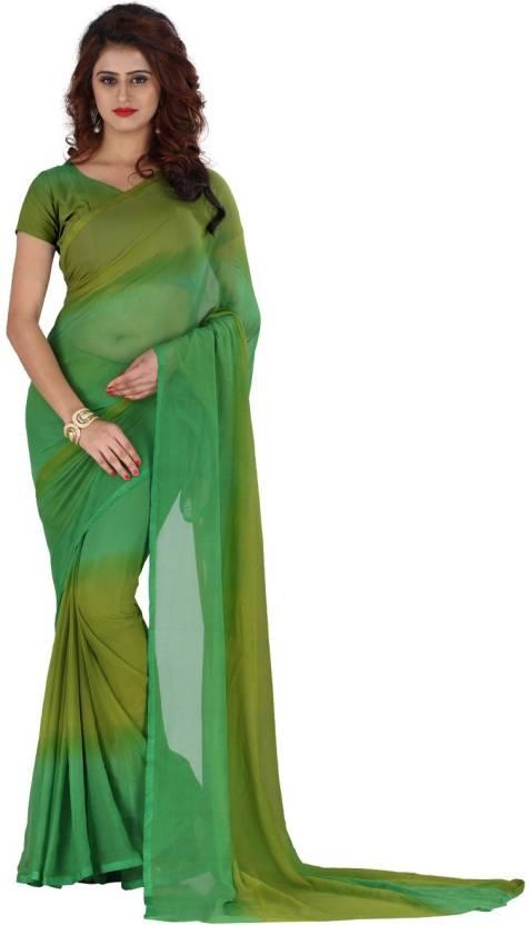 2520154198 Buy Trendz Style Printed Dharmavaram Chiffon Green Sarees Online ...