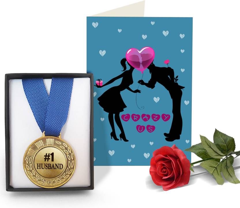 Tied Ribbons Romantic Valentines Gifts for Him Golden Medal