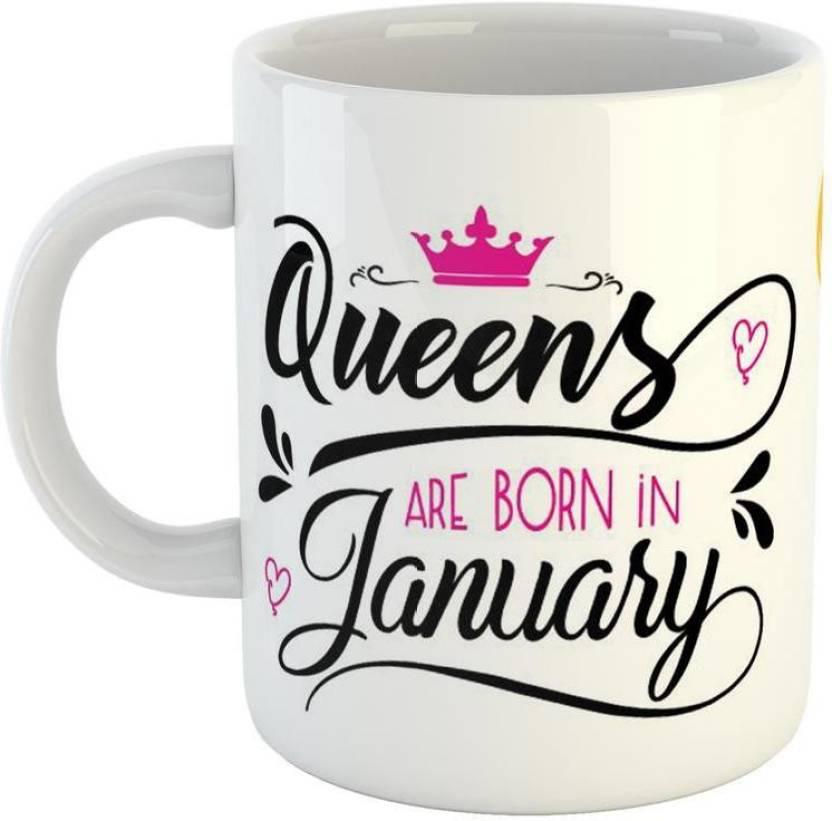 Mugs4You Shy Girl Happy Birthday Best Gift Ceramic Coffee For Friend Girlfriend BoyFriend Glossy Finish With Vibrant Print Mug 350 Ml