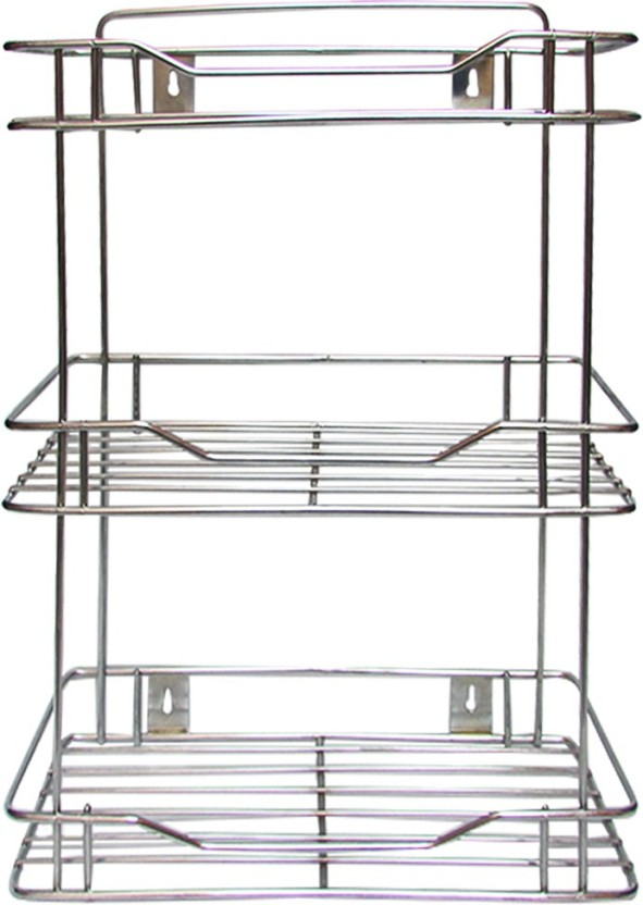 Rawzz Kitchen Racks And Shelves Stainless Steel Wall Shelf