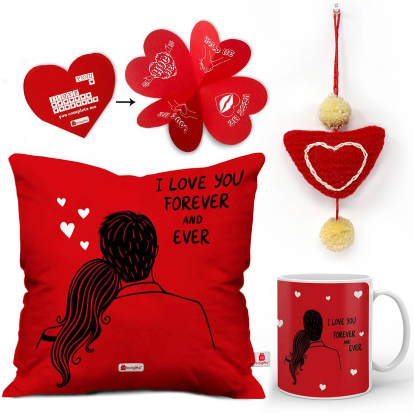 Indi ts Love Gift 0D 0CM066 0LOV Y16 D025 Cushion Mug Showpiece Soft Toy Greeting Card Gift Set
