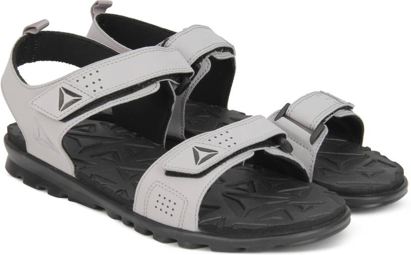 795a2b687afa0f REEBOK Men POWDER GREY BLACK Sandals - Buy POWDER GREY BLACK Color REEBOK  Men POWDER GREY BLACK Sandals Online at Best Price - Shop Online for  Footwears in ...