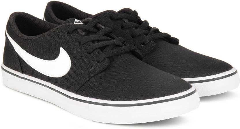 79d66aaf2b30 Nike SB PORTMORE II SOLAR CNVS Canvas Shoe For Men (Black)