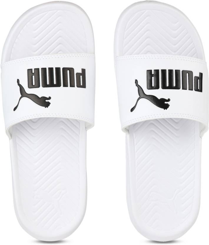 Puma Popcat Slides - Buy Puma White-Puma Black Color Puma Popcat Slides  Online at Best Price - Shop Online for Footwears in India  6cd593cf4