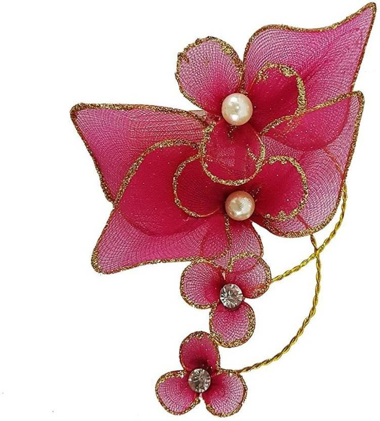 Confidence Hair Accessories For Women Party Wear Flower Hair Clips