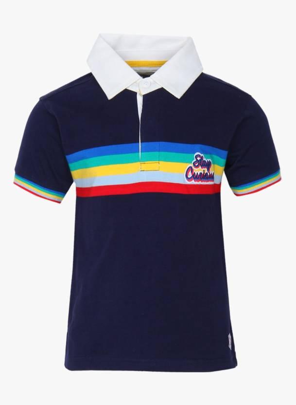 Nautinati Boy S Solid Embroidered Cotton T Shirt