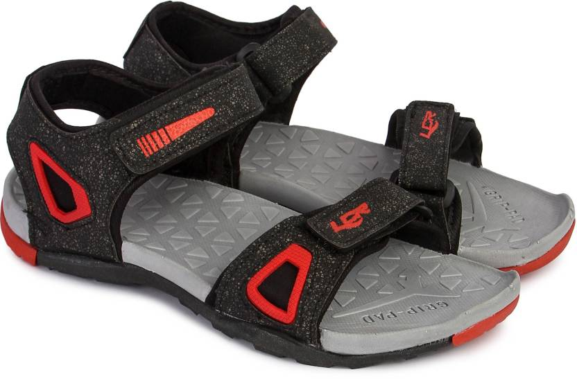 ae537e176e4e Lancer Men Black-Red Sandals - Buy Lancer Men Black-Red Sandals Online at  Best Price - Shop Online for Footwears in India