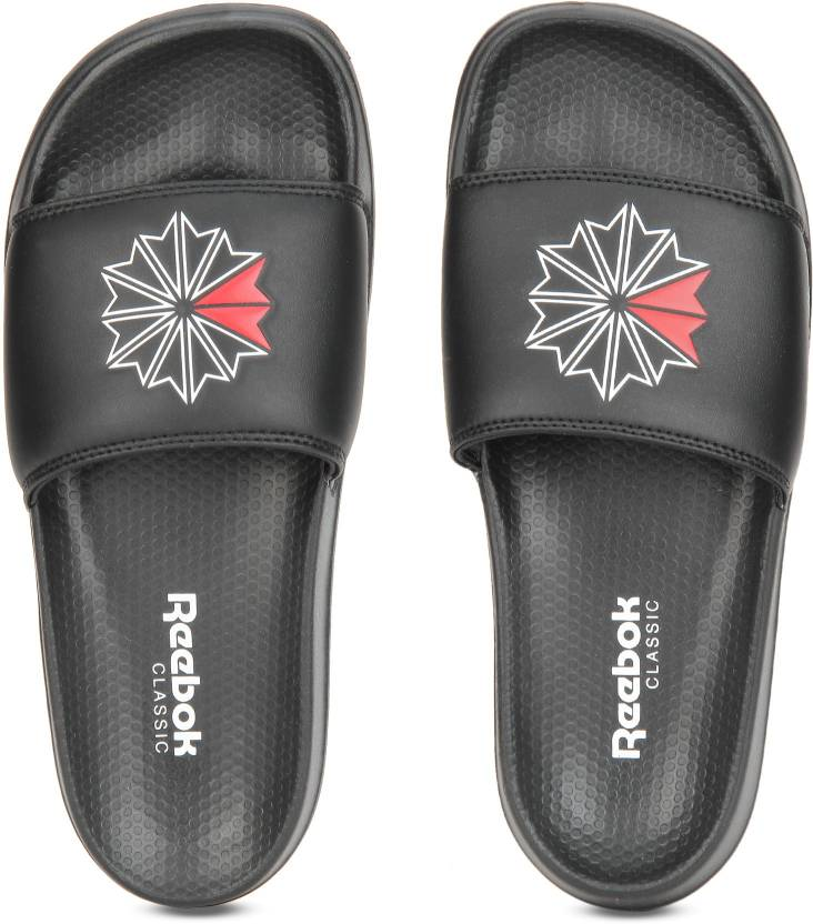 REEBOK CLASSIC SLIDE Slides - Buy SC-BLACK WHITE EXCELE RED Color REEBOK  CLASSIC SLIDE Slides Online at Best Price - Shop Online for Footwears in  India ... 06f1e272c