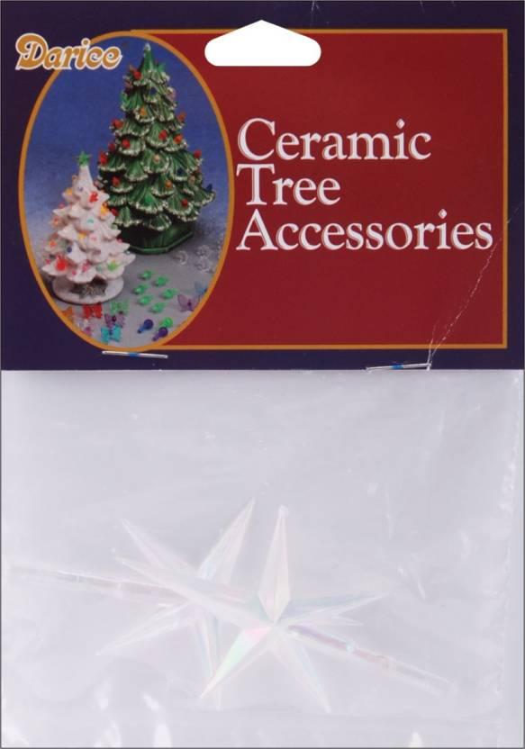 Darice Ceramic Christmas Tree Stars 2 75 X1 875 2 Per Package