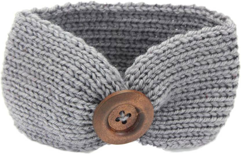 Ziory Grey Baby Girl Baby Boy Unisex Knit Crochet Turban Headband Warm  Headbands for Newborn Hair 76ed2c0c7bd