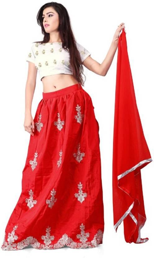 87e7cfeea8 Mert India Embroidered Semi Stitched Lehenga Choli - Buy Mert India ...