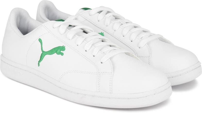 Puma Smash Cat L Sneakers For Men - Buy Puma White-Verdant Gree ... 66d52d125